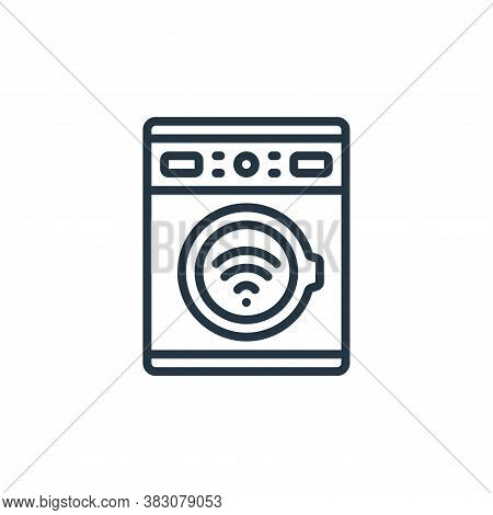 smart washing machine icon isolated on white background from internet of things collection. smart wa