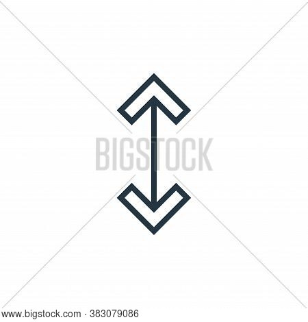 scale icon isolated on white background from arrows collection. scale icon trendy and modern scale s