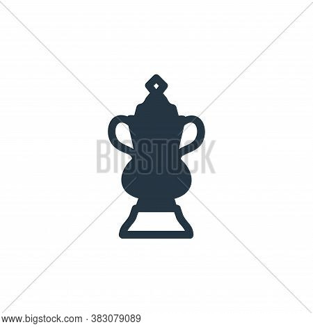 football trophy icon isolated on white background from football trophies collection. football trophy