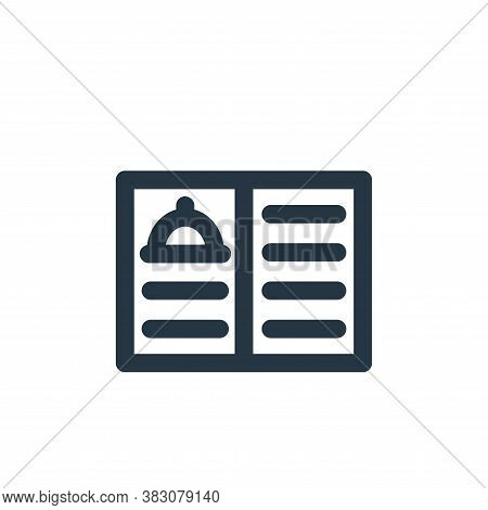 restaurant menu icon isolated on white background from restaurant collection. restaurant menu icon t