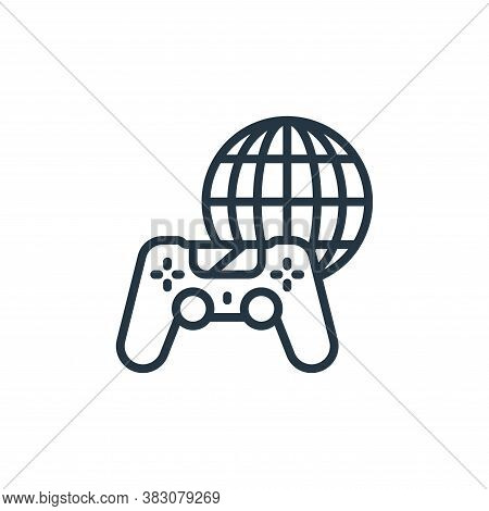 online gaming icon isolated on white background from internet of things collection. online gaming ic