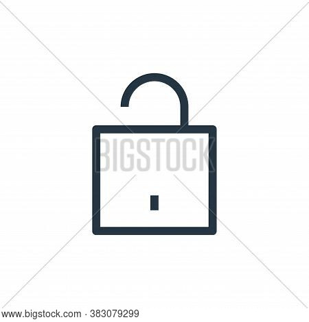 unlock icon isolated on white background from ui collection. unlock icon trendy and modern unlock sy