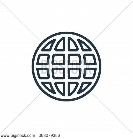 internet icon isolated on white background from internet of things collection. internet icon trendy