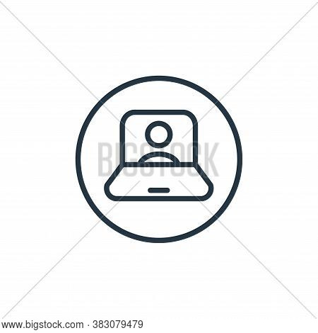 teacher icon isolated on white background from online learning collection. teacher icon trendy and m