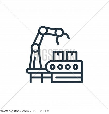 manufacturing icon isolated on white background from internet of things collection. manufacturing ic