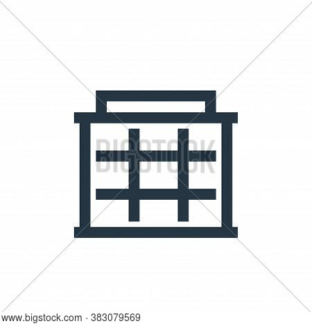 office building icon isolated on white background from property collection. office building icon tre