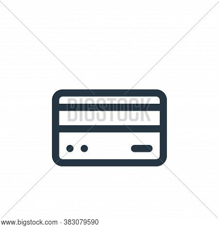 credit card icon isolated on white background from fintech collection. credit card icon trendy and m