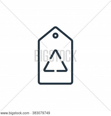 tag icon isolated on white background from ecology line collection. tag icon trendy and modern tag s