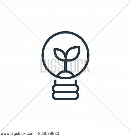 light icon isolated on white background from ecology line collection. light icon trendy and modern l