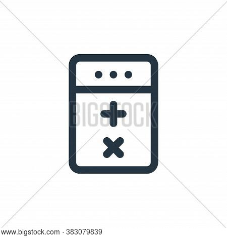 calculator icon isolated on white background from fintech collection. calculator icon trendy and mod