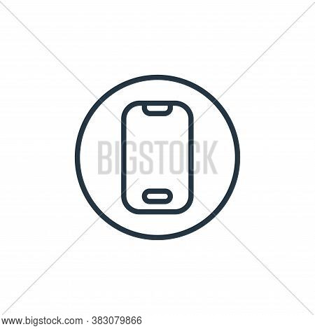 smartphone icon isolated on white background from online learning collection. smartphone icon trendy
