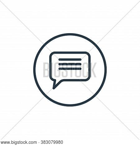 chat icon isolated on white background from online learning collection. chat icon trendy and modern