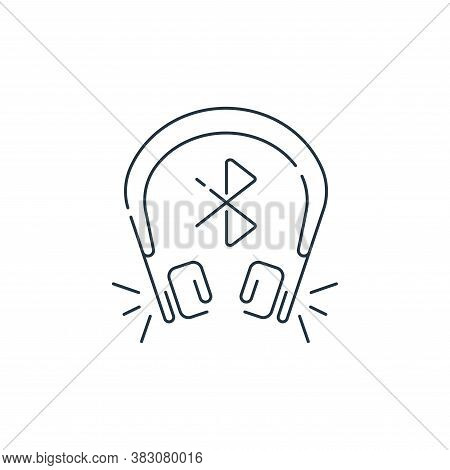 headset icon isolated on white background from hardware and technology collection. headset icon tren