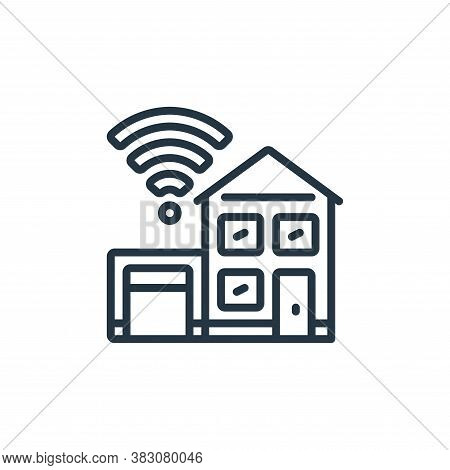 smart home icon isolated on white background from internet of things collection. smart home icon tre