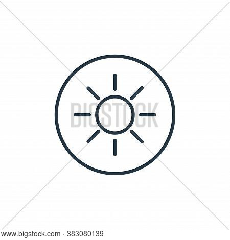 sun icon isolated on white background from general collection. sun icon trendy and modern sun symbol