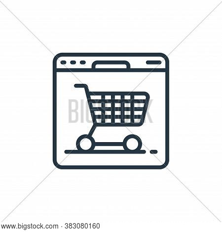 online shop icon isolated on white background from internet of things collection. online shop icon t