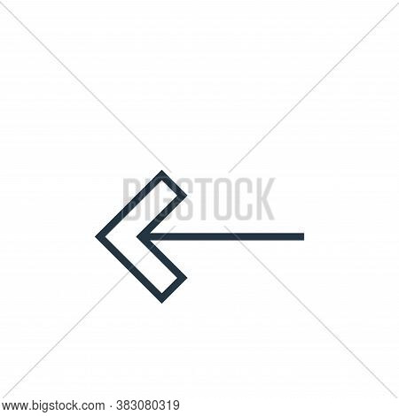 left arrow icon isolated on white background from arrows collection. left arrow icon trendy and mode