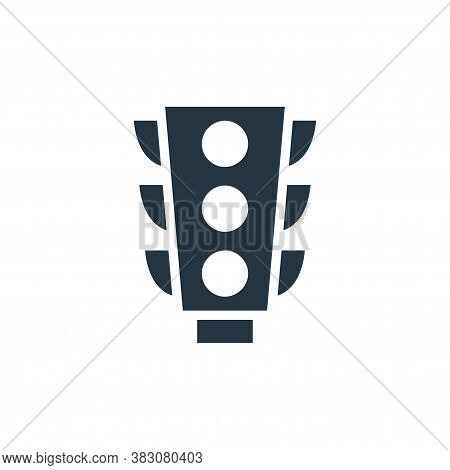 traffic lights icon isolated on white background from maps and navigation collection. traffic lights