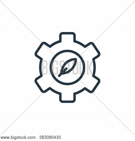 gear icon isolated on white background from ecology line collection. gear icon trendy and modern gea