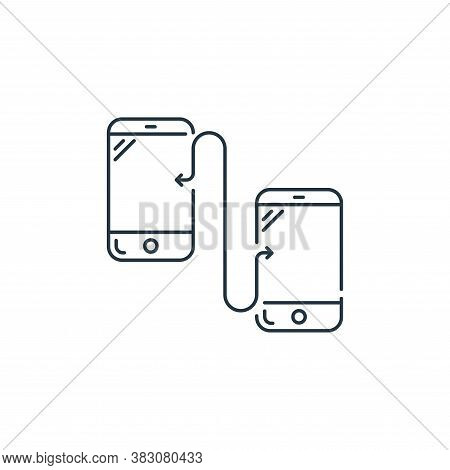 mobile transfer icon isolated on white background from hardware and technology collection. mobile tr