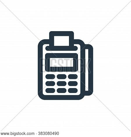 cashier icon isolated on white background from restaurant collection. cashier icon trendy and modern