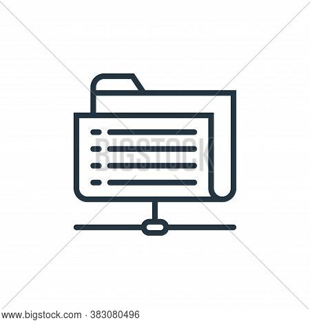 sharing archives icon isolated on white background from business marketing collection. sharing archi