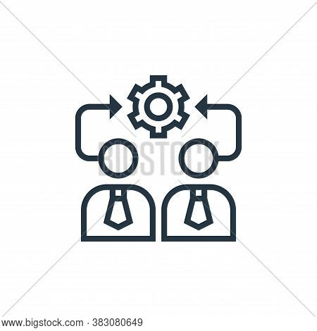 team management icon isolated on white background from business marketing collection. team managemen