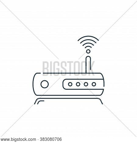 modem icon isolated on white background from hardware and technology collection. modem icon trendy a