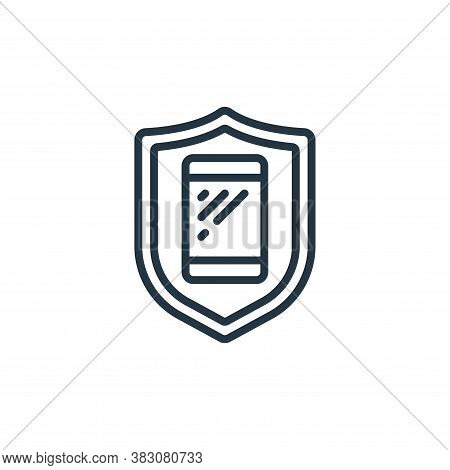 security icon isolated on white background from internet of things collection. security icon trendy