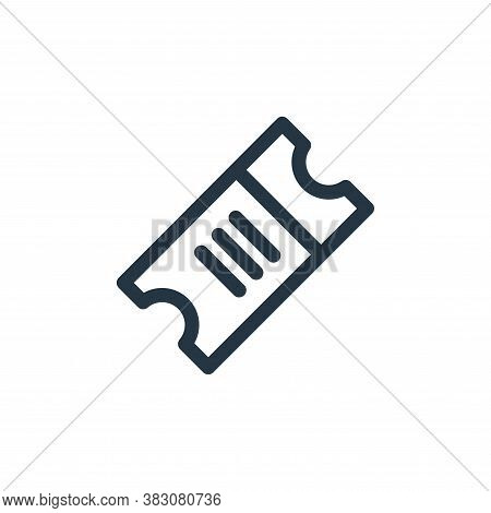 validating ticket icon isolated on white background from miscellaneous collection. validating ticket