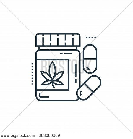 herbal treatment icon isolated on white background from cells organs and medical cannabis collection