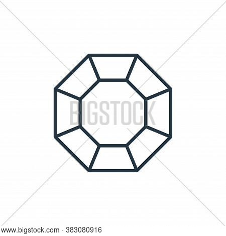 diamond icon isolated on white background from jewelry collection. diamond icon trendy and modern di