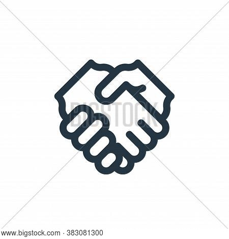 partnership icon isolated on white background from business administration collection. partnership i