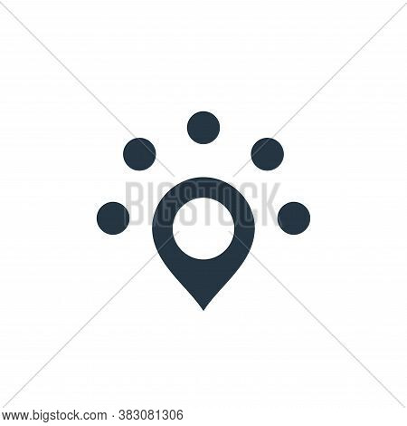 nearby icon isolated on white background from maps and navigation collection. nearby icon trendy and