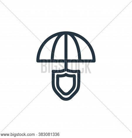 umbrella icon isolated on white background from protection collection. umbrella icon trendy and mode