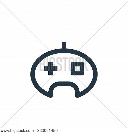 joystick icon isolated on white background from online shop categories collection. joystick icon tre