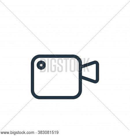 video camera icon isolated on white background from web collection. video camera icon trendy and mod