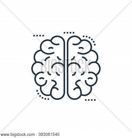 human brain icon isolated on white background from cells organs and medical cannabis collection. hum