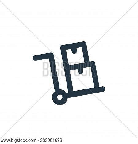 trolley icon isolated on white background from transportation collection. trolley icon trendy and mo