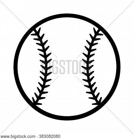Baseball Ball Vector Illustration Isolated On White Background. Ideal For Logo Design Element, Stick