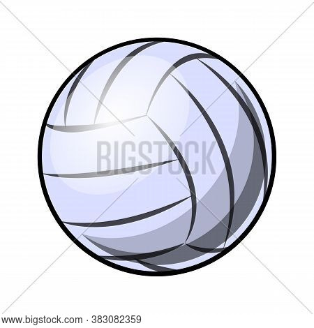 Tennis Ball Silhouette Vector Illustration Isolated On White Background. Ideal For Logo Design, Stic