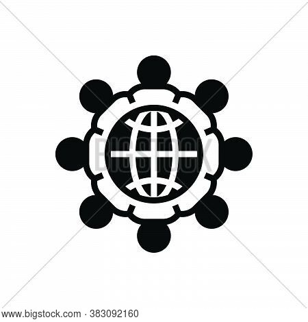 Black Solid Icon For United Union Unification League Organization Company Combination Merging Group