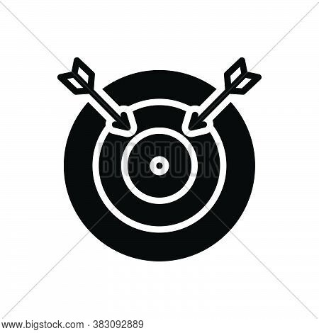 Black Solid Icon For Fail Lapse Default Muff Gaffe Bloomer Mistake Darts Arrows Target Darts-board