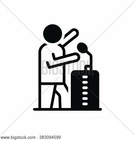 Black Solid Icon For Campaign Expedition Action Sledding Speech Oration Movement Operation Drive