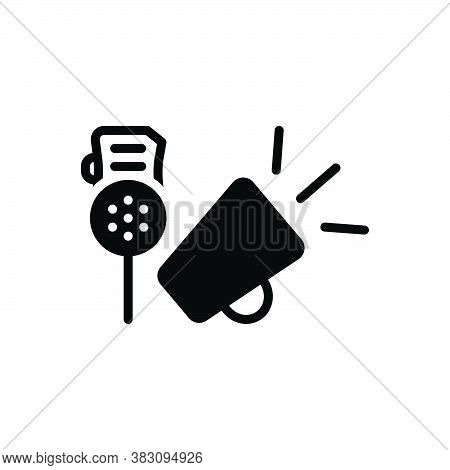 Black Solid Icon For Sirens-&-speakers Sirens Speakers Noisy Loudspeaker Announce Horn Notify Alert