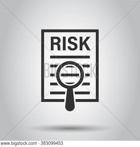 Risk Level Icon In Flat Style. Result Vector Illustration On White Isolated Background. Assessment B