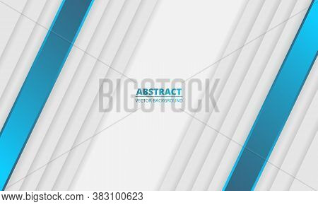 White Abstract Modern Background With White And Blue Lines And Shadows. White Royal Modern Banner Wi