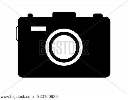 Camera Icon. Symbol Of Photo, Snapshot. Silhouette For Photography, Image And Picture. Black Simple