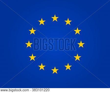 Flag Eu. European Union. Symbol Of Europe. Stars In Round. Circle Icon For Schengen. Euro Ring Of Co