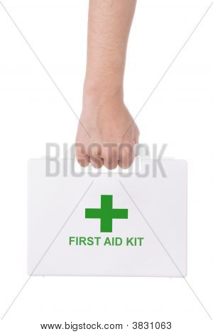 Hand Holding A First Aid Kit